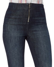 Madison Zip Front Superior Blue Jeans, DENIM-DRK, hi-res