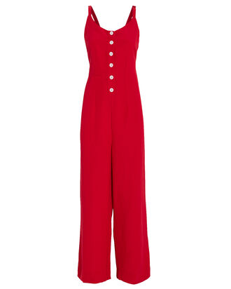 Teresa Linen Blend Jumpsuit, RED, hi-res