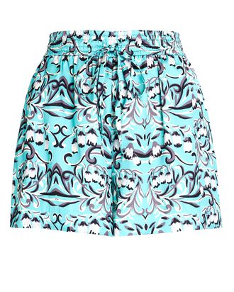 Ember Printed Satin Shorts, LIGHT BLUE, hi-res