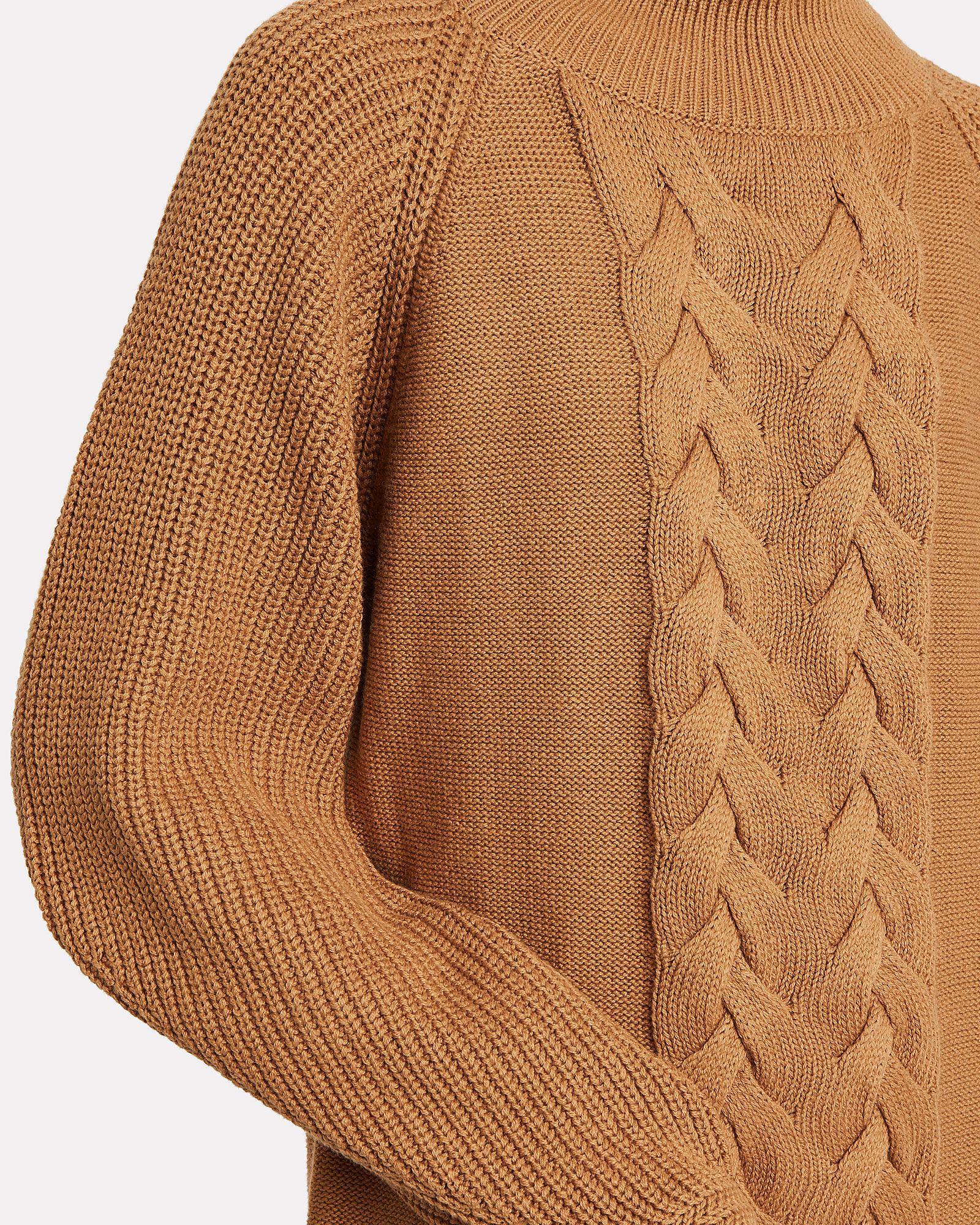 Cable Knit Wool-Blend Sweater Dress, BEIGE, hi-res