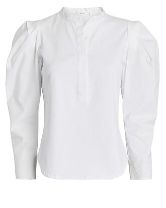 Robbie Puff Sleeve Popover Top, WHITE, hi-res