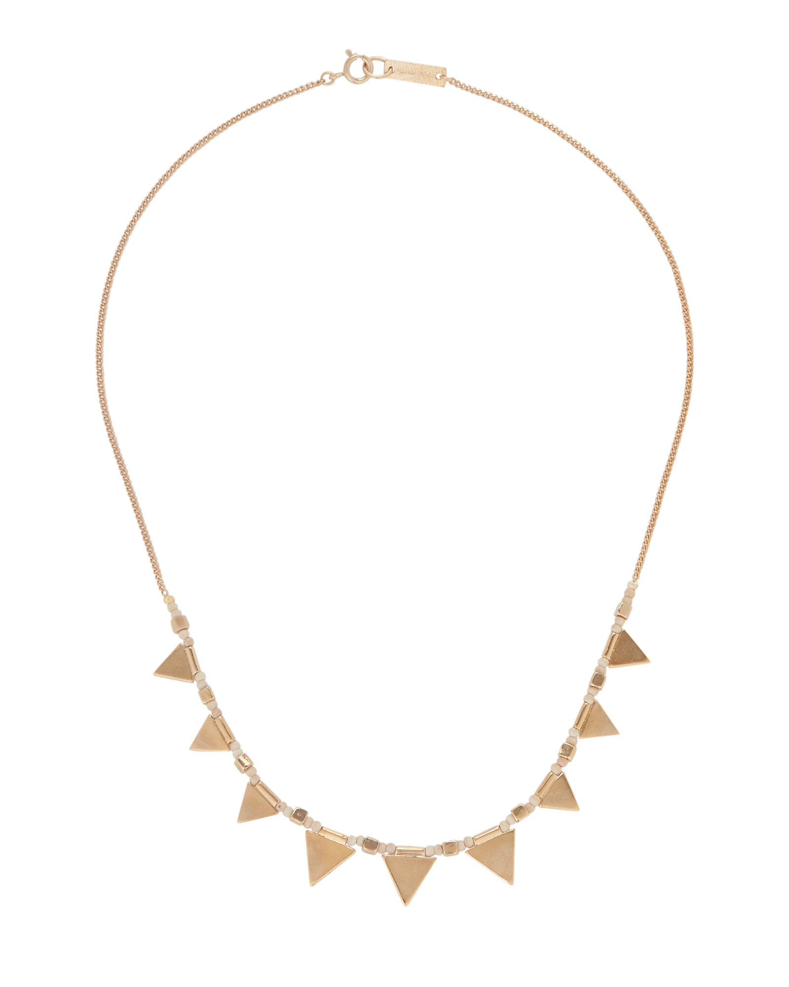 Beaded Triangle Chain Necklace, , hi-res