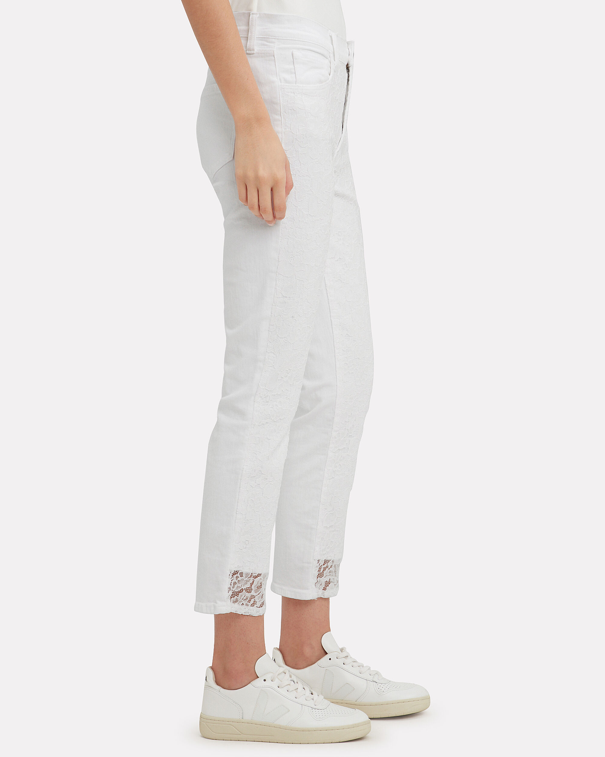 Ruby Lace Cropped Cigarette Jeans, WHITE, hi-res