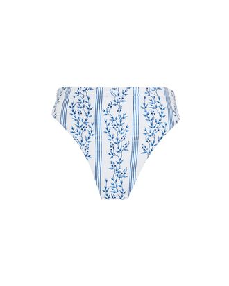 Comino Grosellas Printed Bikini Bottoms, WHITE/BLUE, hi-res