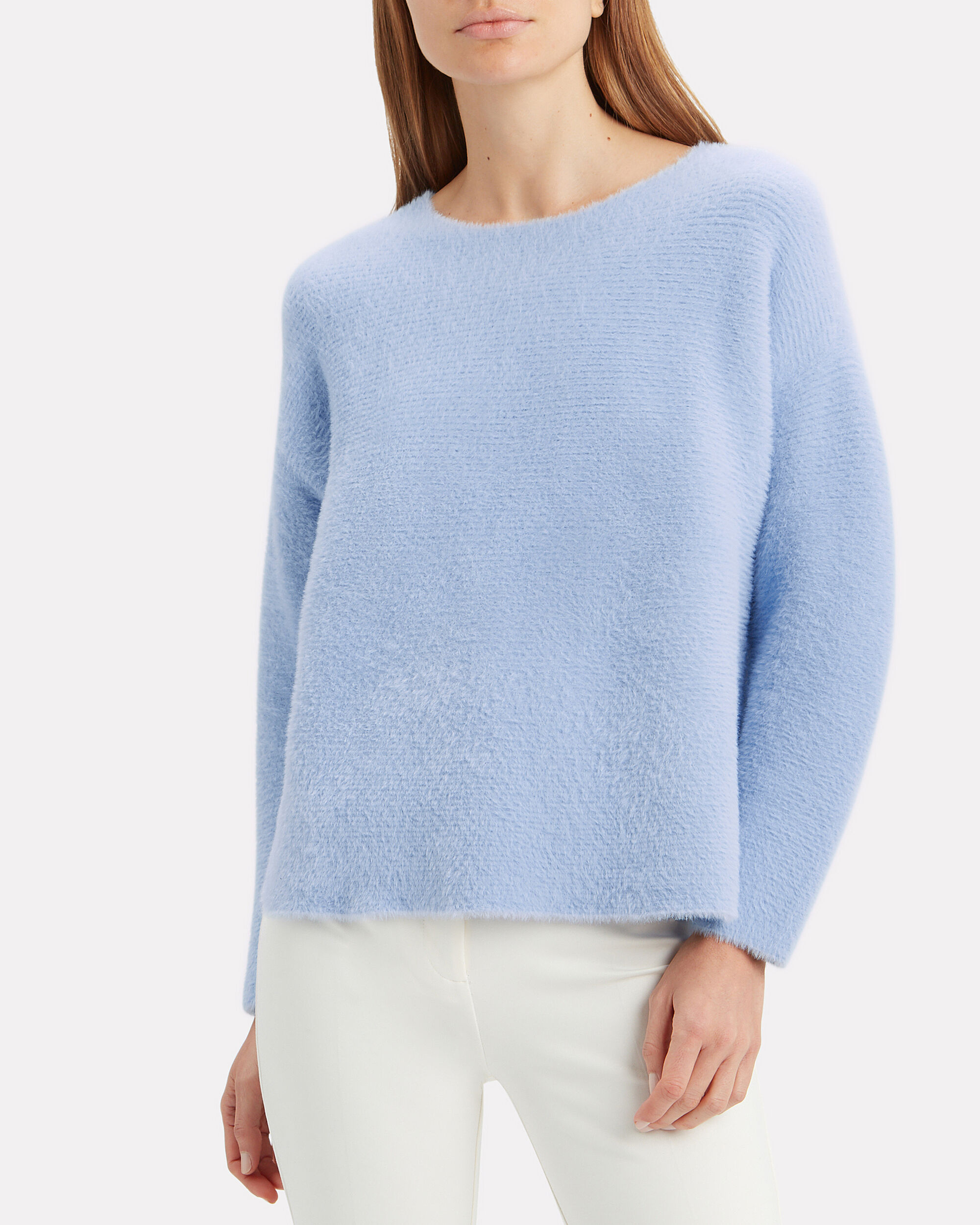 Blue Plush Sweater, BLUE, hi-res