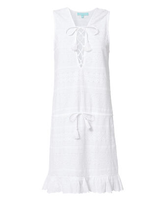 Layla Lace-Up Dress, WHITE, hi-res