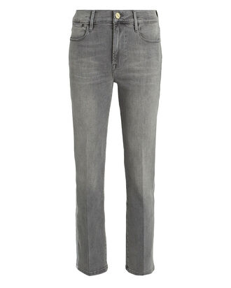 Le High Straight Tux Stripe Jeans, GREY, hi-res