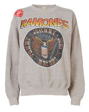 Joey Patch Ramones Sweatshirt, GREY, hi-res