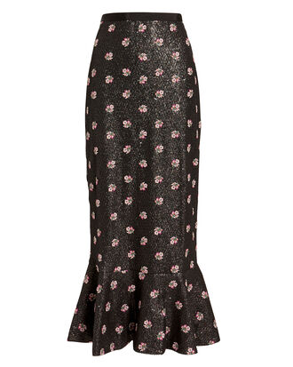 Aidan Skirt, BLACK/FLORAL, hi-res