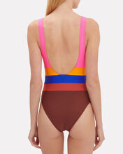 Randell Striped One Piece Swimsuit, MULTI, hi-res
