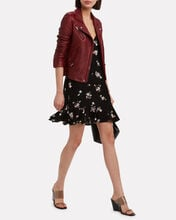 Han Leather Moto Jacket, DARK RED, hi-res