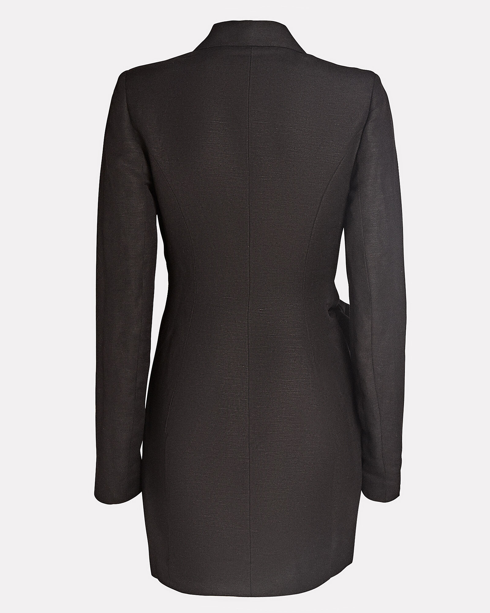 Tempo Draped Mini Blazer Dress, BLACK, hi-res