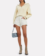 Elke Half-Zip Turtleneck Sweater, WHITE, hi-res