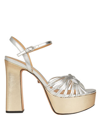 Anselma Open Toe Platfrom Sandals, SILVER/GOLD METALLIC, hi-res