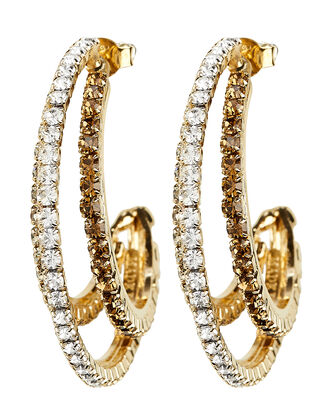 Rock Crystal Earrings, GOLD, hi-res