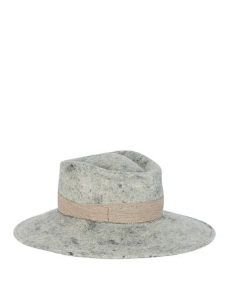 Vivienne Medium Brim Fedora, LIGHT GREY, hi-res