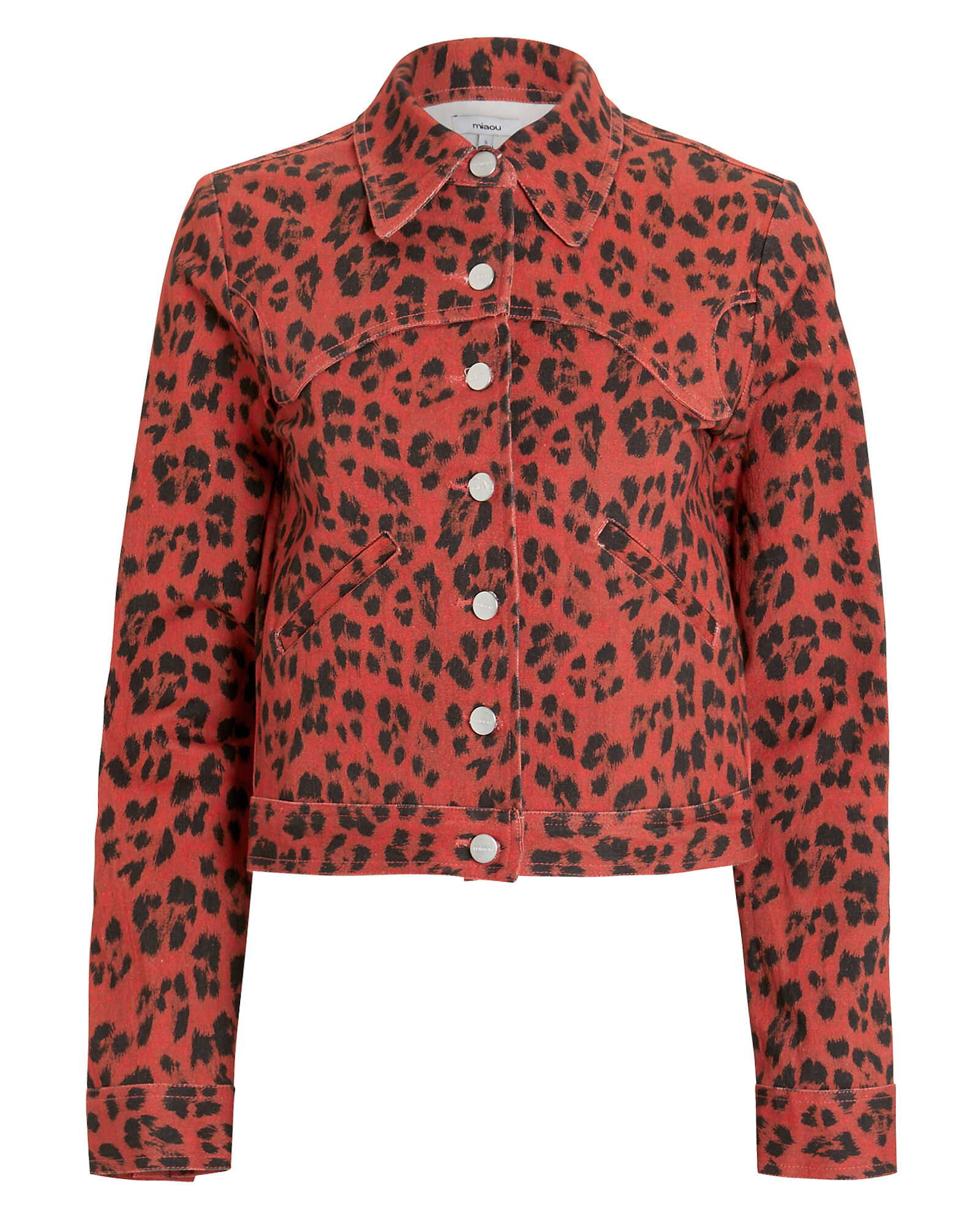 Lex Leopard Denim Jacket, MULTI, hi-res