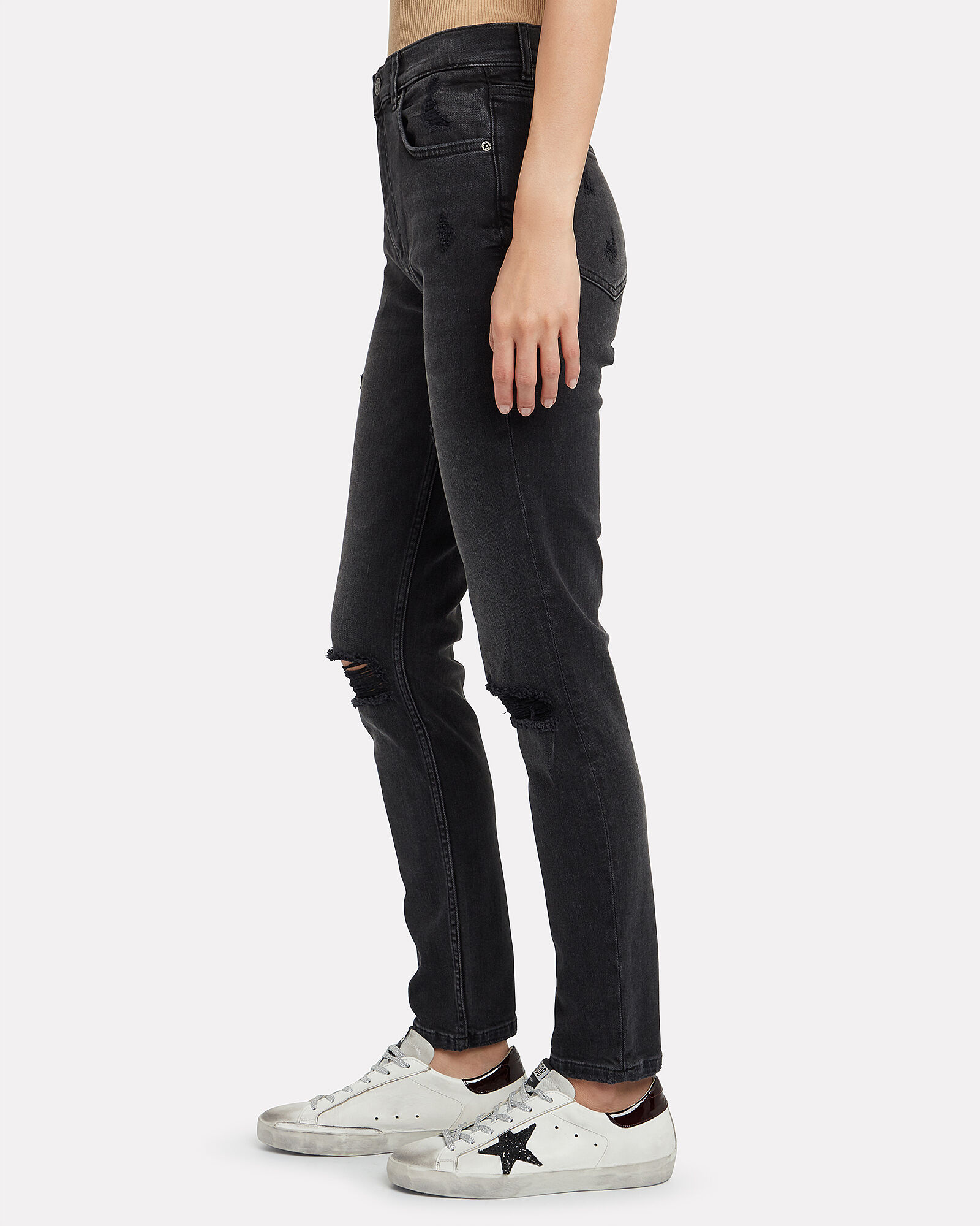 The Zachary High-Rise Skinny Jeans, BLACK, hi-res
