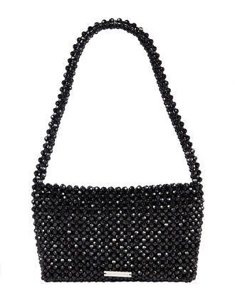 Marleigh Beaded Baguette Bag, BLACK, hi-res