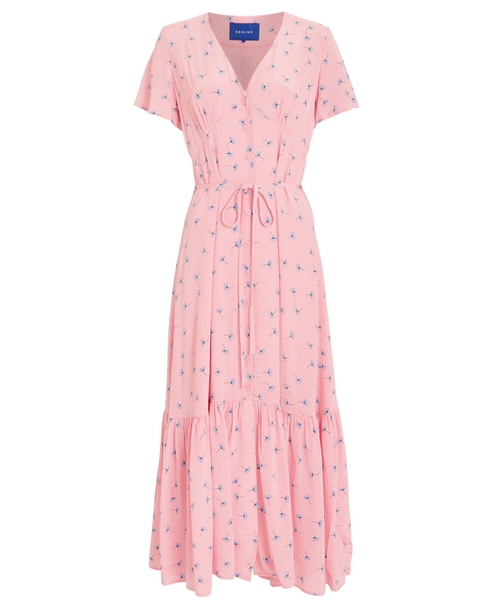 Nancy Floral Dress, PINK/FLORAL, hi-res
