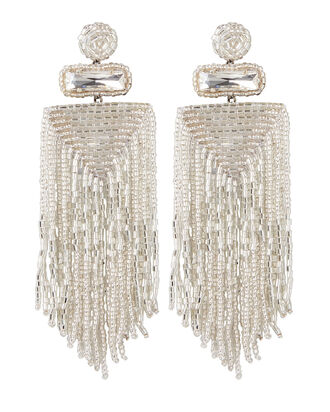 Deepa By Deepa Gurnani Jody Fringe Earrings, SILVER, hi-res