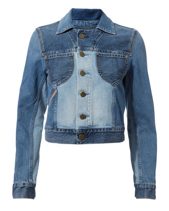Jacques Cropped Denim Jacket, DENIM-LT, hi-res