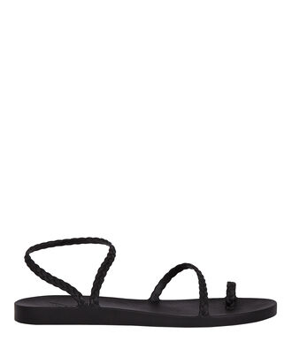Eleftheria Braided Jelly Sandals, BLACK, hi-res