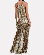 Isla Silk Leopard Ruffled Dress, MULTI, hi-res