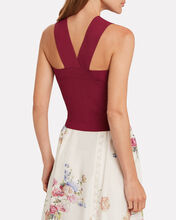 Lia Cropped Tank Top, RED-DRK, hi-res