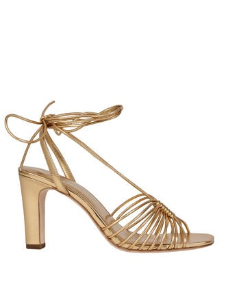 Hallie Strappy Leather Sandals, GOLD, hi-res