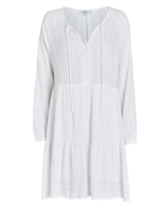 Jayla Long Sleeve Mini Dress, WHITE, hi-res