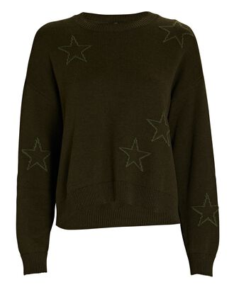 Perci Cotton-Blend Intarsia Sweater, OLIVE/ARMY, hi-res