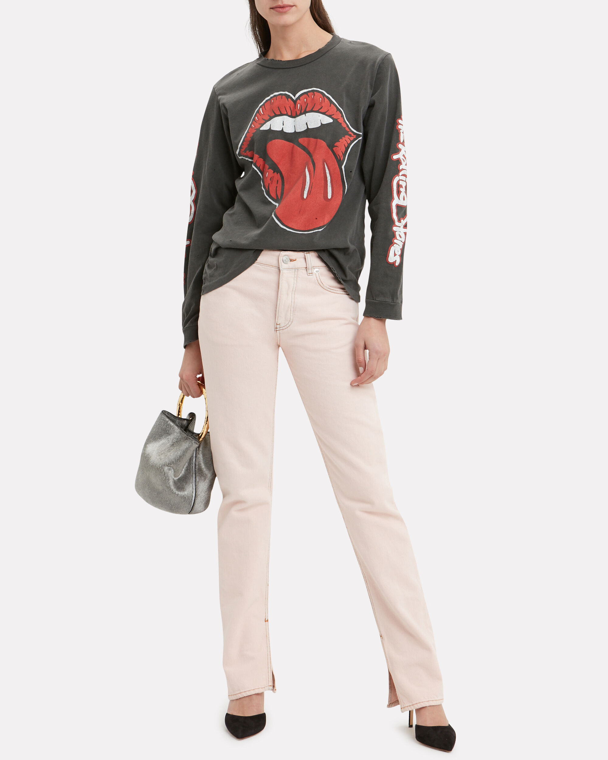 Rolling Stones Graphic T-Shirt, FADED BLACK, hi-res