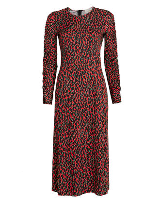 Tinder Leopard Rosso Dress, RED/LEOPARD, hi-res