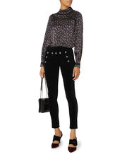 Jane Sailor Skinny Velvet Jeans, BLACK, hi-res