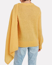 Colette Mohair-Blend Draped Sweater, YELLOW, hi-res