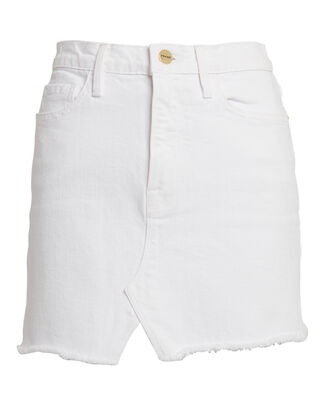 Le Mini Denim Skirt, BLANC, hi-res