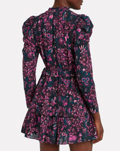 Prissa Tie Neck Floral Dress, MULTI, hi-res