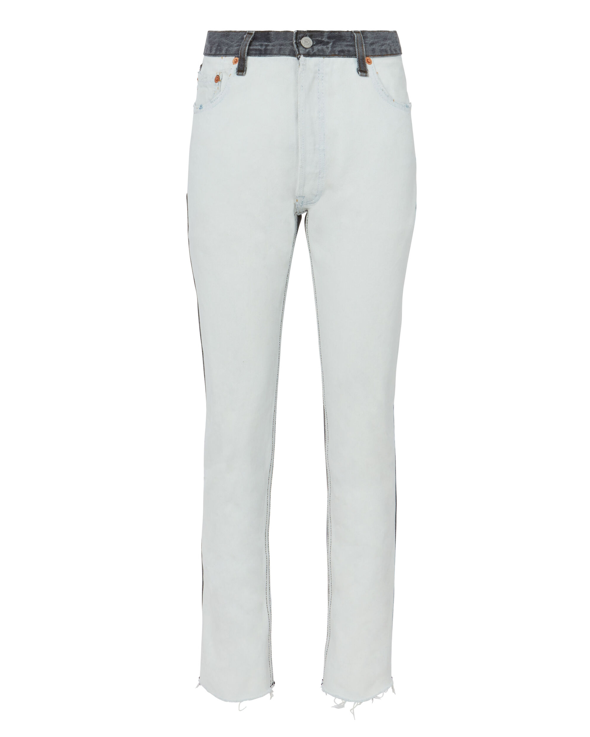 High-Rise Two-Tone Ankle Crop Jeans, BLK/WHT, hi-res