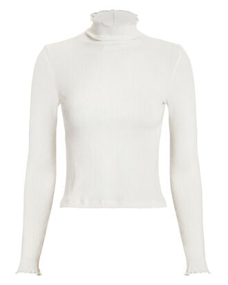 Ivory Ribbed Turtleneck, IVORY, hi-res