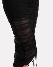 Aren Ruched Midi Skirt, BLACK, hi-res