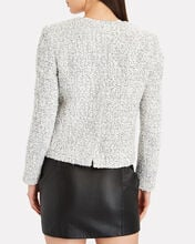 Carrie Double-Breasted Tweed Blazer, IVORY, hi-res
