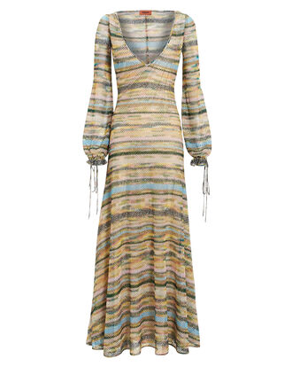 Pastel Lamé Maxi Dress, MULTI, hi-res