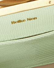Pebble Lizard-Embossed Leather Bag, MINT, hi-res