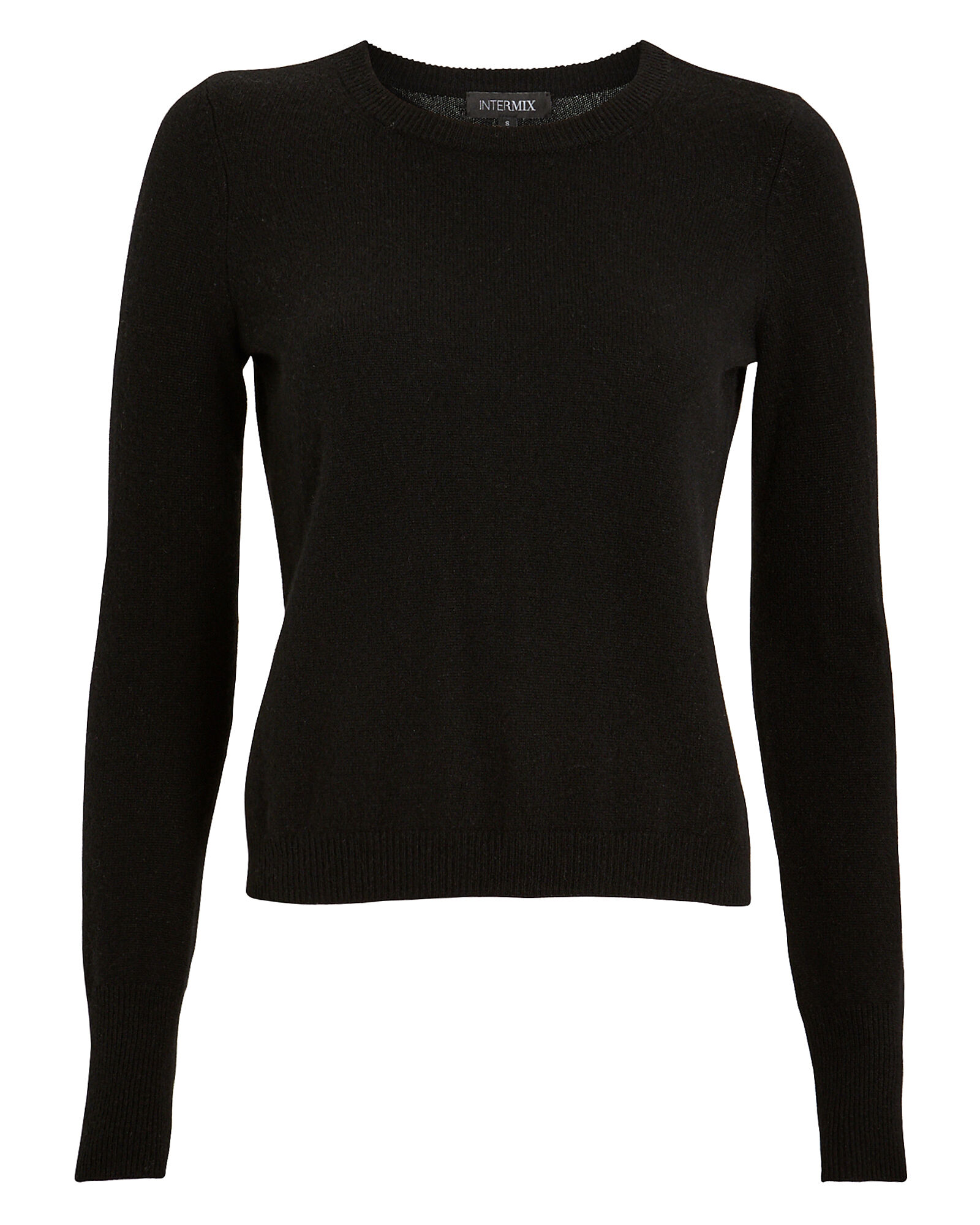 Valencia Cashmere Crewneck Sweater, BLACK, hi-res
