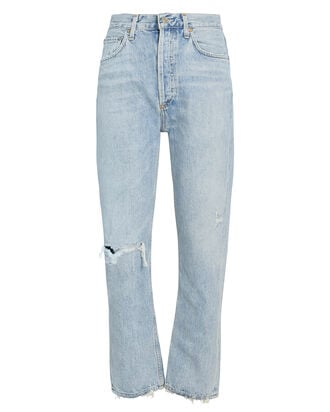 Riley High-Rise Cropped Jeans, DENIM-LT, hi-res