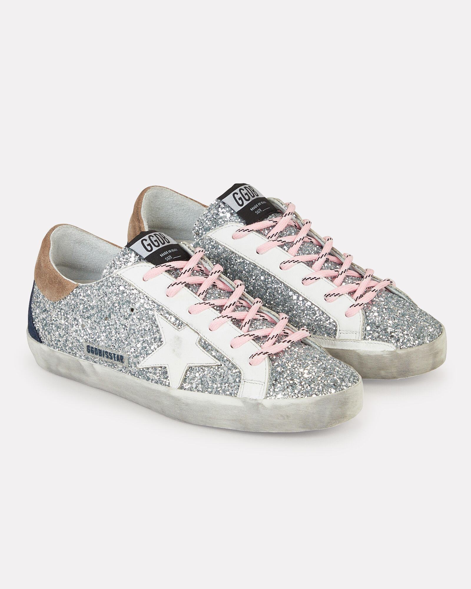 Superstar Leather Low-Top Sneakers, SILVER, hi-res