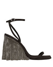 Blake Crystal Illusion Wedges, BLACK, hi-res