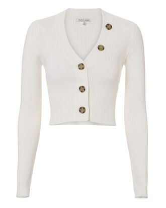 Yula Crop Cardigan, OFF-WHITE, hi-res