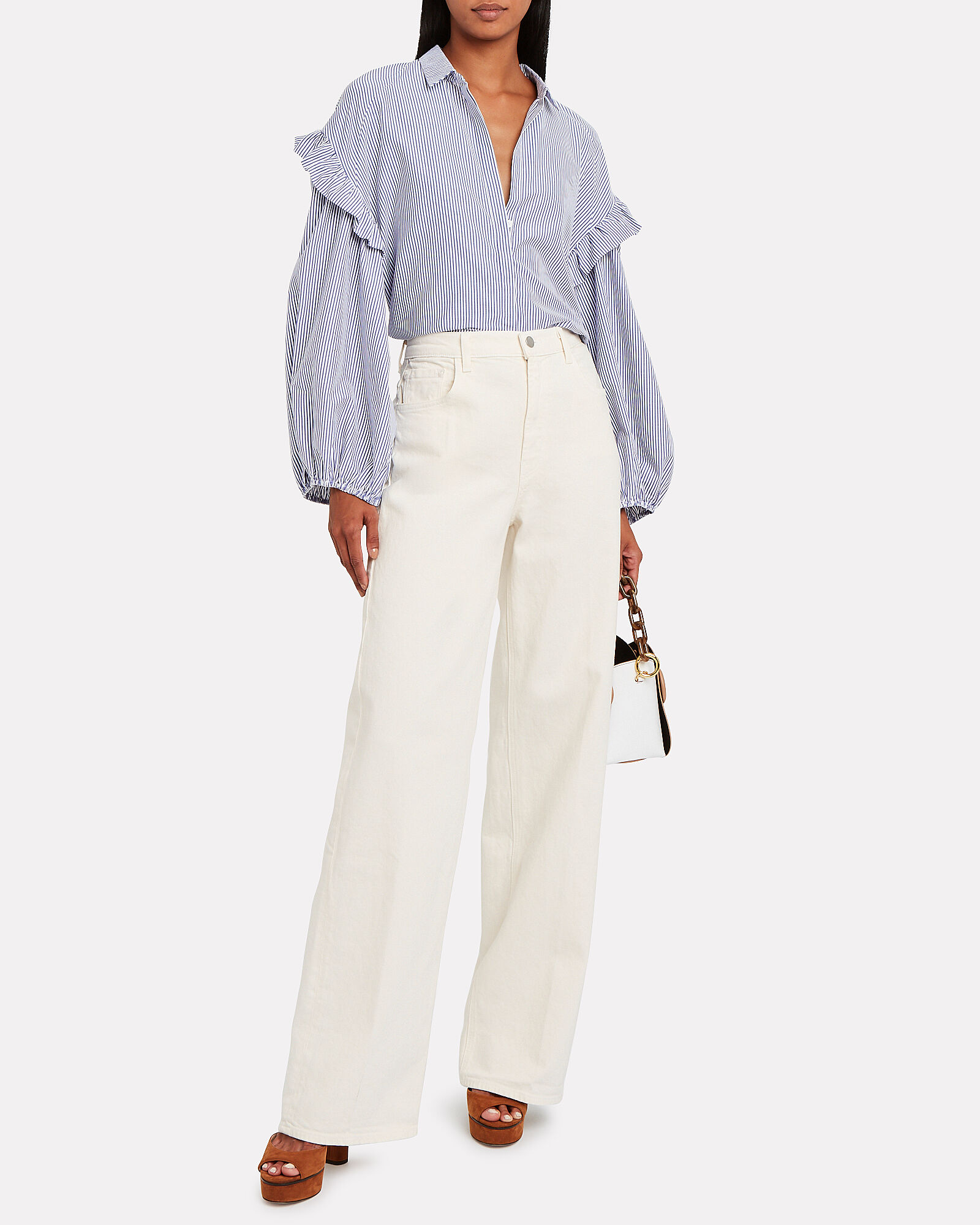 Elsa Monday Wide Leg Jeans, WHITE WASH DENIM, hi-res
